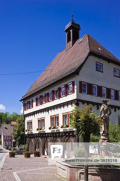 Altes Rathaus  Wildberg  Schwarzwald  Baden-Württemberg  Deutschland  Europa