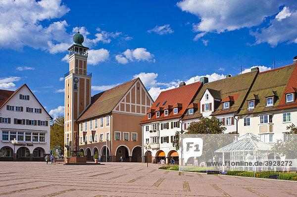 Rathaus  Oberer Marktplatz  Freudenstadt  Schwarzwald  Baden-Württemberg  Deutschland  Europa
