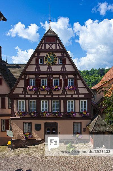 altensteig baden w rttemberg deutschland europa schwarzwald altes rathaus. Black Bedroom Furniture Sets. Home Design Ideas