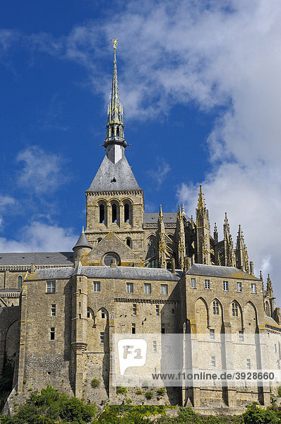 Mont-Saint-Michel  Benedictine abbey  Normandy  France  Europe