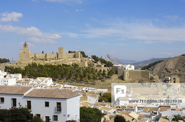 Schloss von Antequera  12. - 16. Jahrhundert  Provinz Malaga  Andalusien  Spanien  Europa