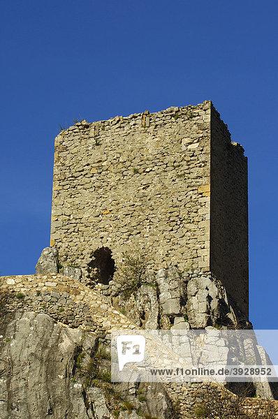 La Iruela Burg  Sierra de Cazorla  Segura y Las Villas Naturpark  Provinz Jaen  Andalusien  Spanien  Europa