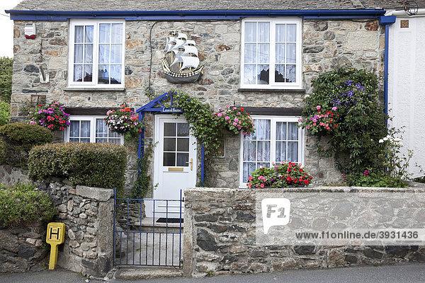 Cornisches Steinhaus  Marazion  Cornwall  England  Großbritannien  Europa