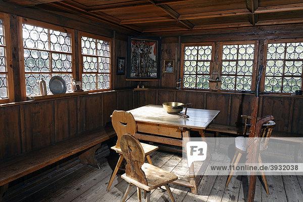allg u baden w rttemberg bauernhaus museum wolfegg deutschland einrichtung um 1850 europa. Black Bedroom Furniture Sets. Home Design Ideas