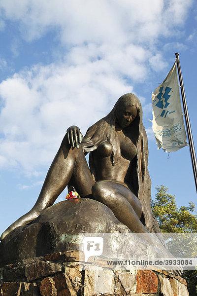 Loreley-Denkmal bei Sankt Goar  UNESCO Welterbe  Mittelrheintal  Rheinland-Pfalz  Deutschland  Europa Loreley-Denkmal bei Sankt Goar, UNESCO Welterbe, Mittelrheintal, Rheinland-Pfalz, Deutschland, Europa