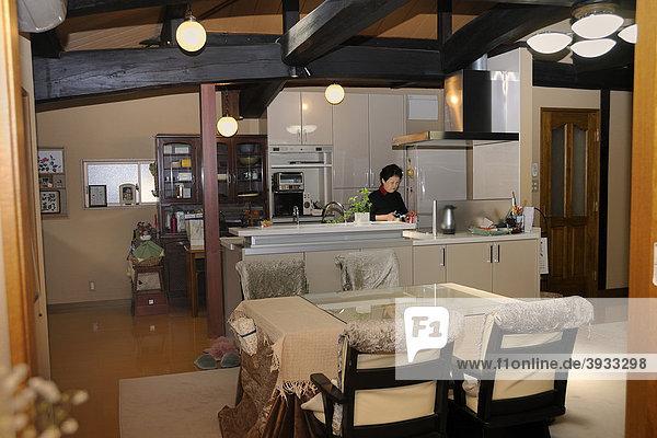 Traditionelles  modern umgebautes Haus in Kyoto  Japan  Ostasien  Asien