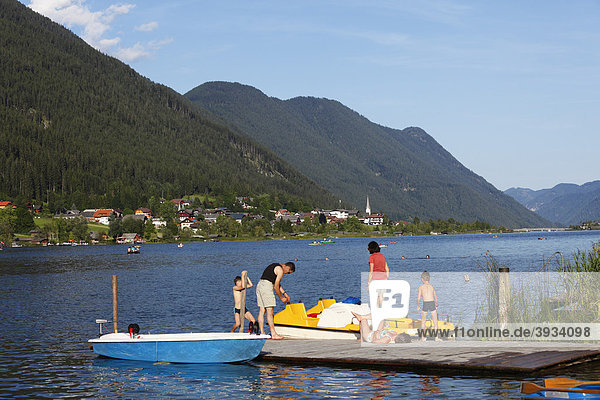 Weissensee Lake  Carinthia  Austria  Europe