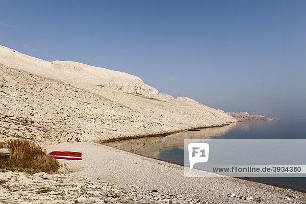 Rucica bay at Metajna  Pag island  Dalmatia  Adriatic Sea  Croatia  Europe