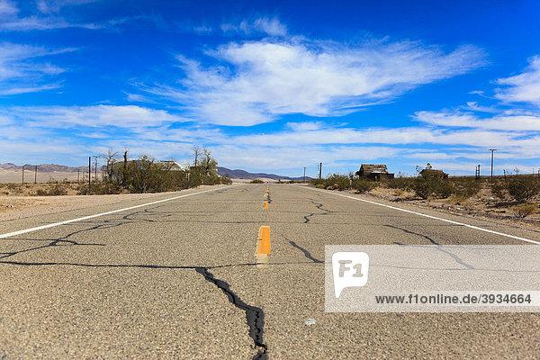 The historic Route 66  Ludlow  California  USA  North America