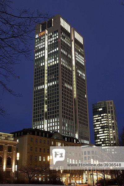 OpernTurm von Tishman Speyer Property im Stadtteil Westend  Frankfurt am Main  Hessen  Deutschland  Europa