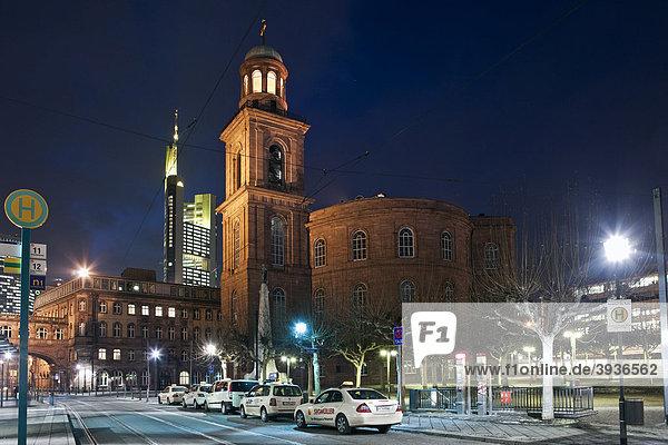 Blick auf die Paulskirche  Frankfurt  Hessen  Deutschland  Europa