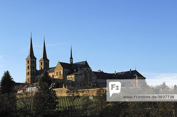 St. Michael oder Kloster Michelsberg  Neubau 1712  Michelsberg  Bamberg  Oberfranken  Bayern  Deutschland  Europa