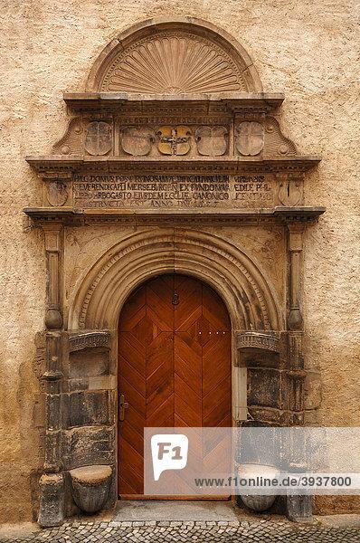 Dekoratives Eingangsportal  1557  Domstr. 8  Merseburg  Sachsen-Anhalt  Deutschland  Europa