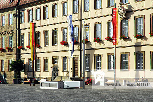 Rathaus am Maximiliansplatz  UNESCO-Welterbe Bamberg  Oberfranken  Bayern  Deutschland  Europa