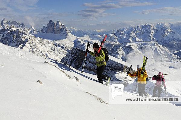 Skitour  Dürrenstein  Drei Zinnen  Hochpustertal  Südtirol  Italien  Europa