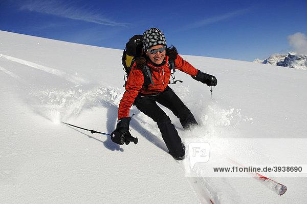 Skitour  Großer Jaufen  Pragser Tal  Hochpustertal  Südtirol  Italien  Europa