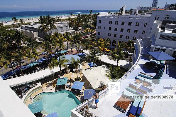 Clevelander Hotel  Miami South Beach  Art Deco district  Florida  USA