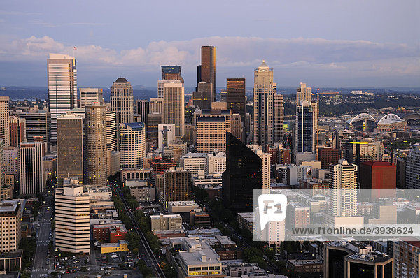 Blick von der Space Needle  Downtown Seattle  USA