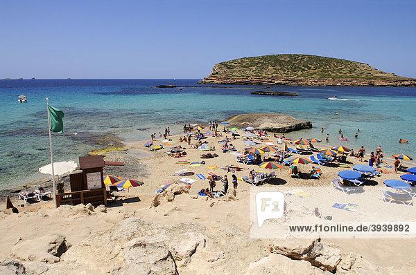 Beach  Cala Conta  Ibiza  Pine Islands  Balearic Islands  Spain  Europe