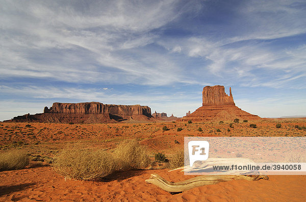 Monument Valley  Navajo Tribal Lands  Utah  USA