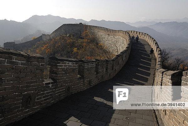 Große Chinesische Mauer bei Mutianyu im Herbst bei Peking  China  Asien