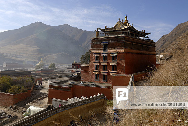 The morning circling  Kora  of the Labrang Monastery  Xiahe  Gansu  China  Asia