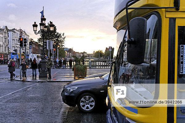 O'Connell Street Bridge  winter  Dublin  Ireland  Europe