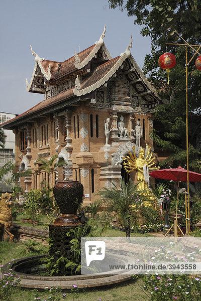 Tempelanlage Wat Lok Molee  Chiang Mai  Nordthailand  Thailand  Asien