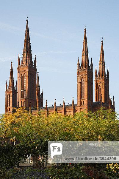 Marktkirche in Wiesbaden  Hessen  Deutschland  Europa