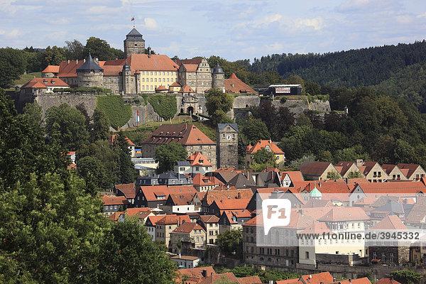 Veste Rosenberg und Stadt,  Kronach,  Oberfranken,  Bayern,  Deutschland,  Europa