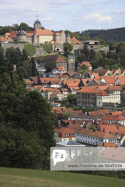 Veste Rosenberg und Stadt  Kronach  Oberfranken  Bayern  Deutschland  Europa