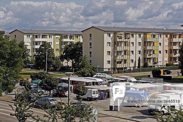 Wohnhäuser in der Neustadt von Lübbenau  Spreewald  Brandenburg  Deutschland  Europa