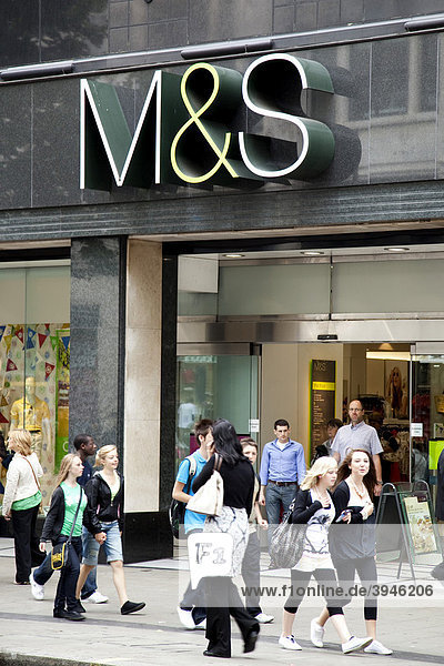 Store of the retail business Marks and Spencer on Oxford Street in London  England  United Kingdom  Europe