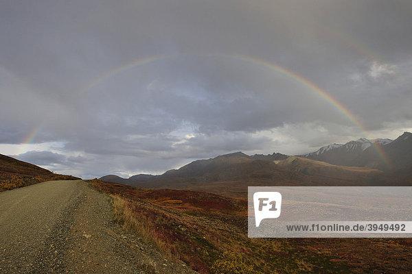 Regenbogen  Denali Nationalpark  Alaska