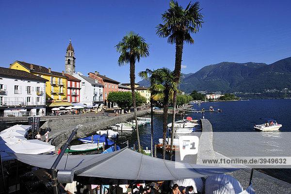 Ascona am Lago Maggiore  Kanton Tessin  Schweiz  Europa Kanton Tessin