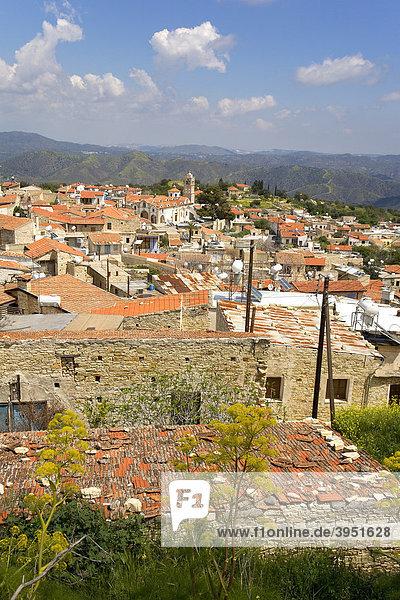 Ortschaft im Troodos Gebirge  Lefkara  Zypern  Griechenland  Europa