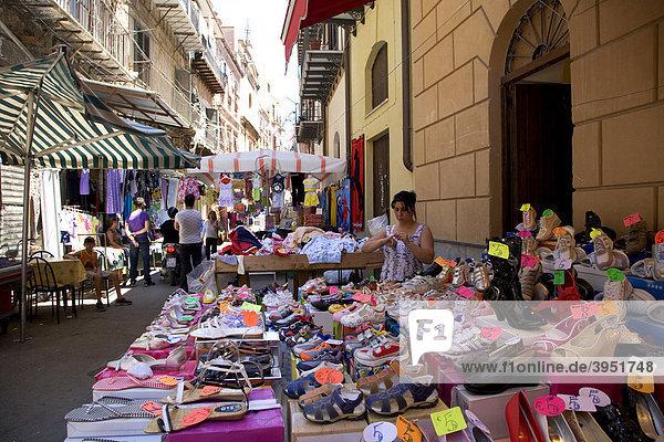 Markt im Capo Viertel  Mercato di Capo  Palermo  Sizilien  Italien  Europa