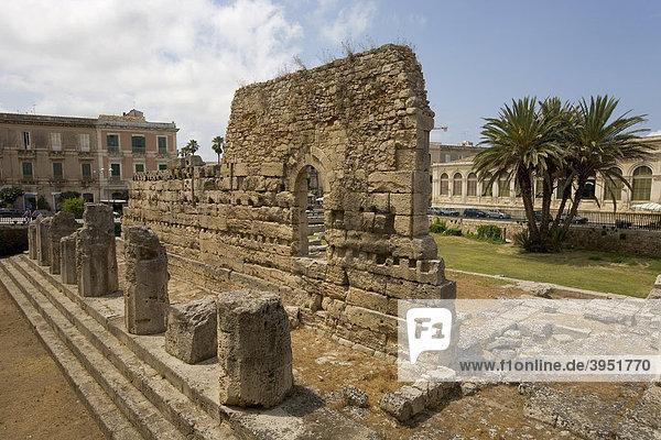 Tempio di Apollo  Apollo Tempel in der Altstadt  Syrakus  Sizilien  Italien  Europa