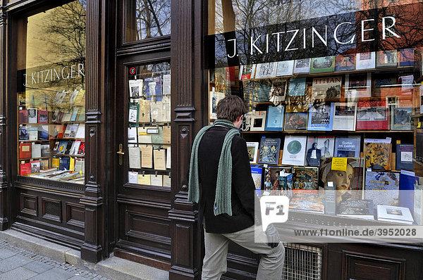 Auslage von Bücherantiquariat  Schellingstraße  München  Bayern  Deutschland  Europa