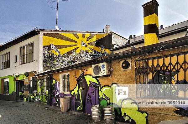 Feilitschstraße  Graffiti neben Eingang Schwabinger 7  Schwabing  München  Bayern  Deutschland  Europa
