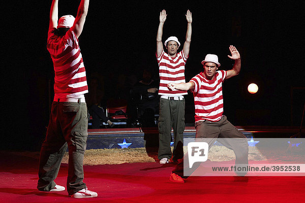 Starbug  comedians  show of the circus Knie with its 2009 program c'est magique in the Rosental-Anlage venue in Basel  Switzerland  Europe