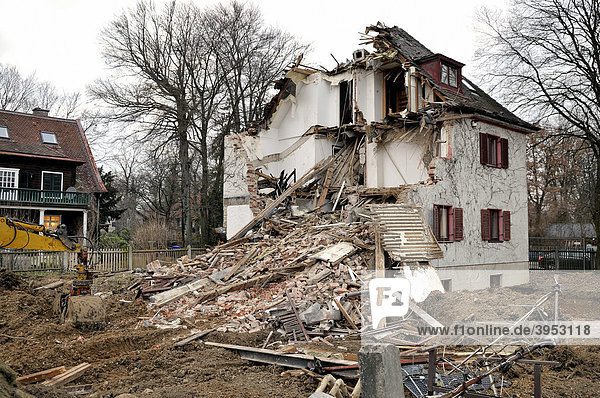 Abbruch eines Wohnhauses