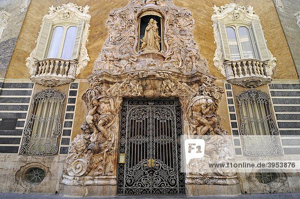 Fassade  Alabaster  Museum Nacional de Ceramica  Palacio del Marques de Dos Aguas  Palast  Keramikmuseum  Keramik  Museum  Valencia  Spanien  Europa
