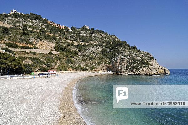 Playa Granadella  Strand  Küste  Mittelmeer  Javea  Costa Blanca  Alicante  Spanien  Europa