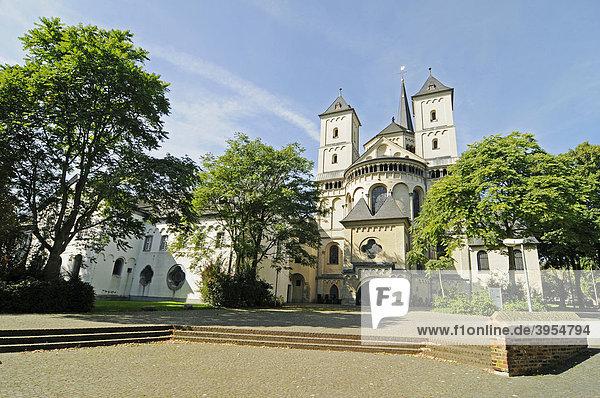 St Nikolaus Kirche  Abtei  Kloster  Brauweiler  Pulheim  Rheinland  Nordrhein-Westfalen  Deutschland  Europa