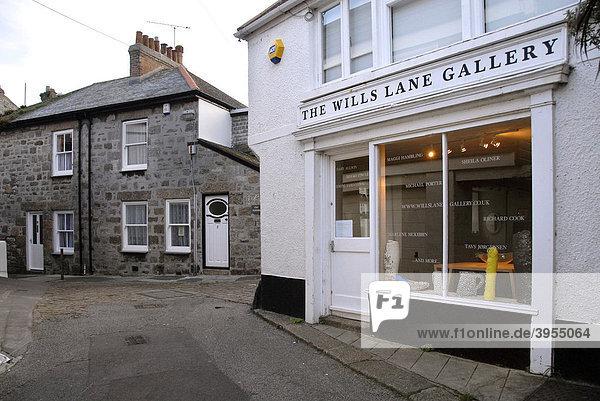 Kunstgalerie  Künstlerort  Küstenort  St Ives  Cornwall  Südengland  England  Großbritannien  Europa