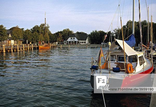 Hafen von Althagen  Ahrenshoop  Mecklenburg-Vorpommern  Deutschland