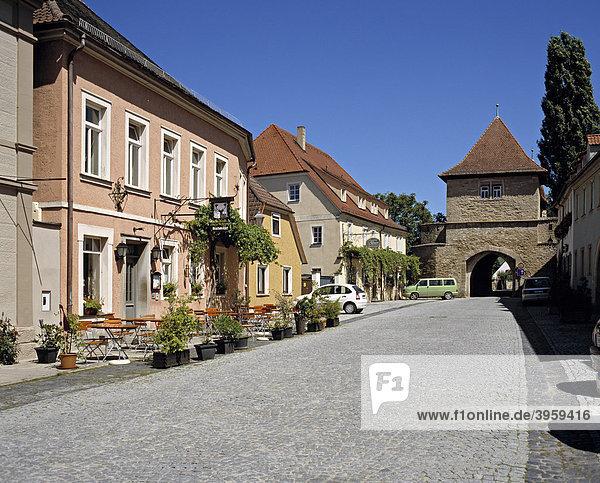 Das Einersheimer Tor  Iphofen  Unterfranken  Bayern  Deutschland  Europa