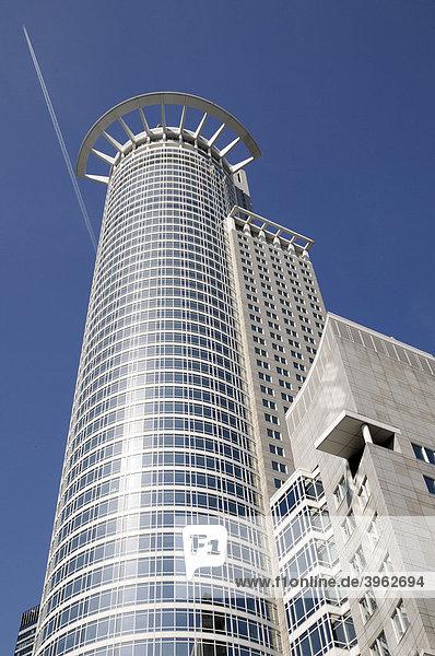 Gebäude der DZ Bank  Kronenhochhaus  Bankenviertel  Frankfurt am Main  Hessen  Deutschland  Europa