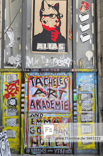 Graffiti  Tacheles  Bundeshauptstadt  Berlin  Deutschland  Europa